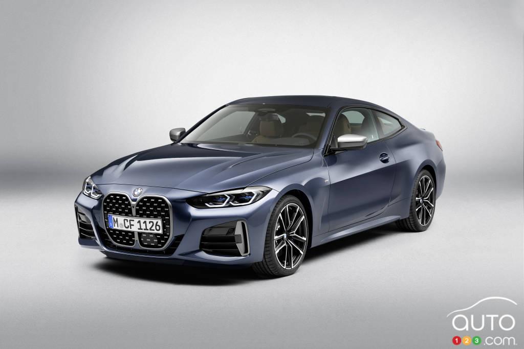 BMW Série 4 coupé 2021, trois quarts avant