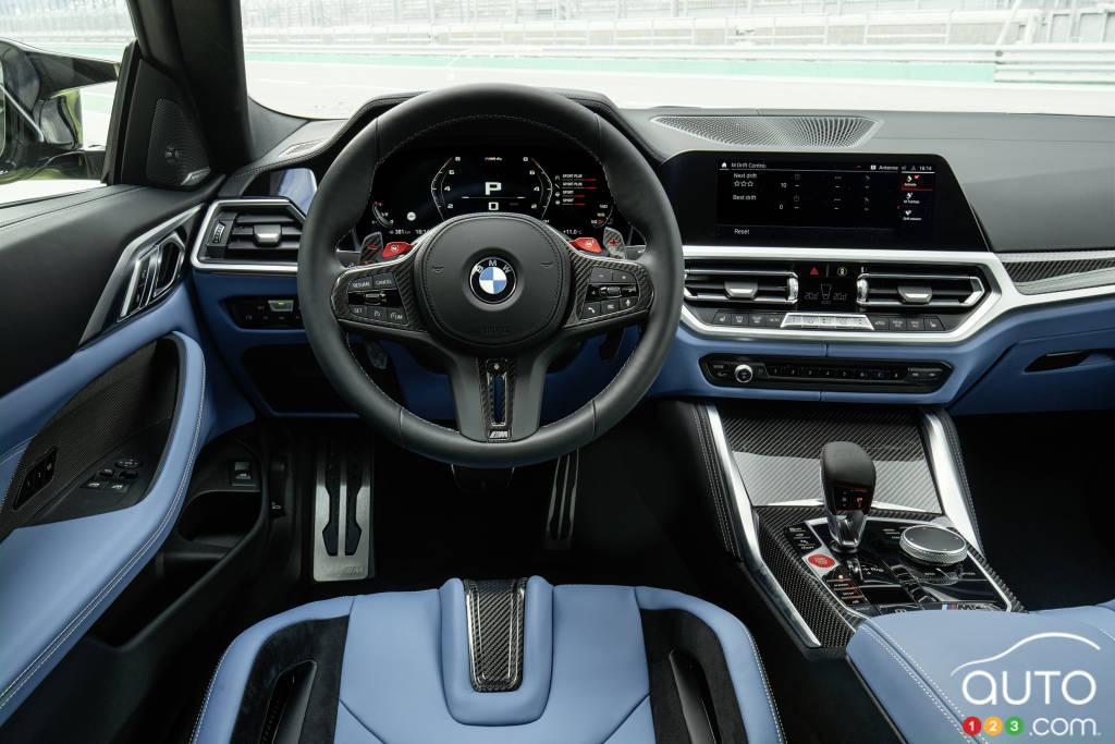 BMW M4 2021, intérieur