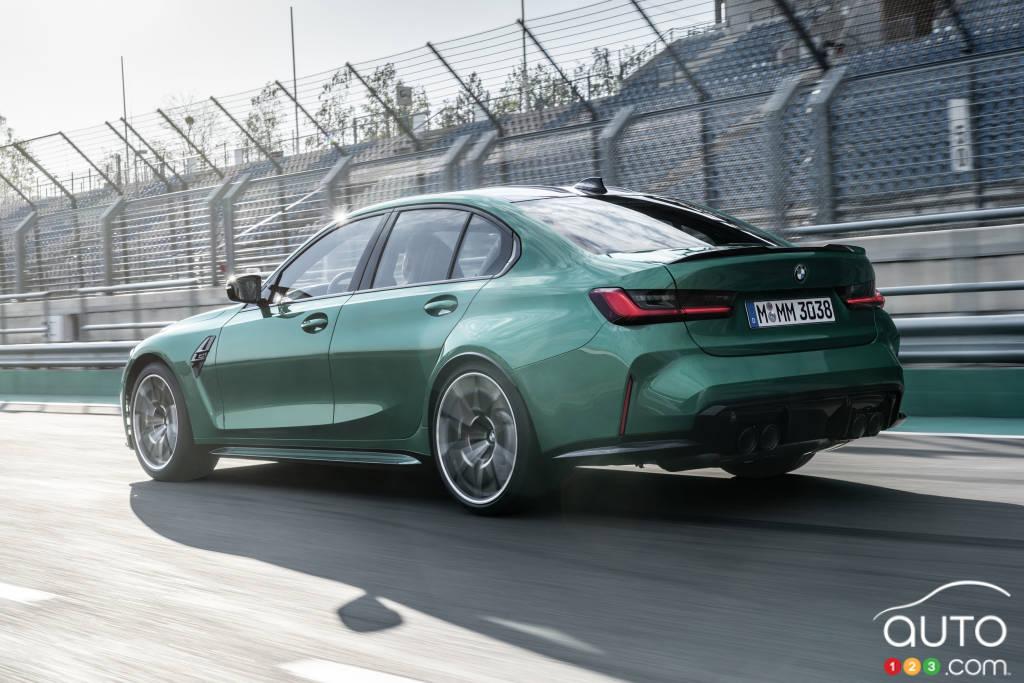 BMW M3 2021, trois-quarts arrière