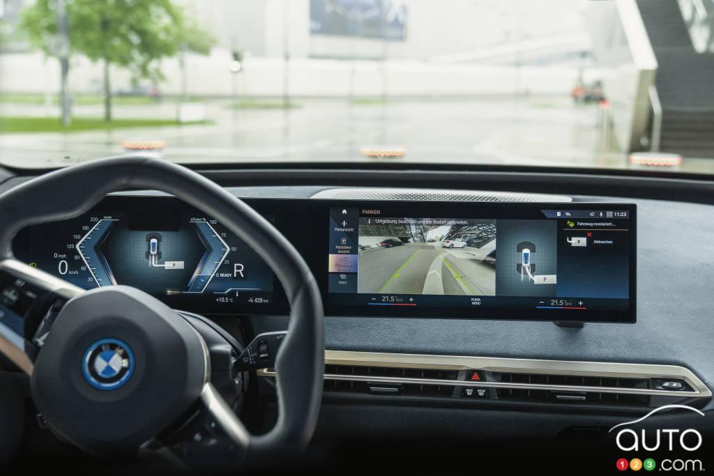 BMW iX, tableau de bord