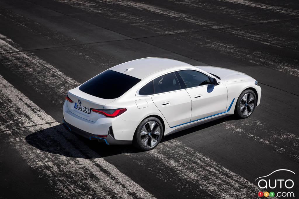 BMW i4 eDrive40 2022, de haut