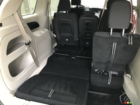 Chrysler Pacifica, with third-row seat folded into floor