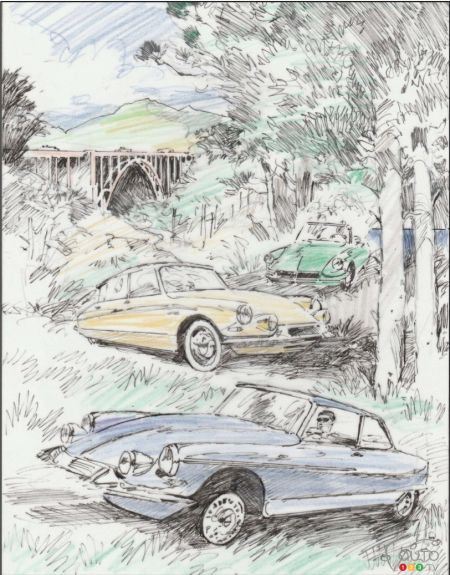 Official poster for the 2018 Concours d'Elegance de Pebble Beach