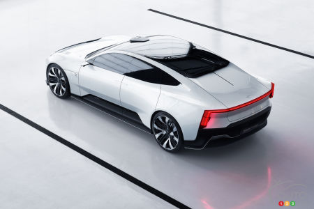 Polestar Precept, from above