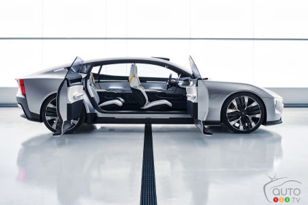 Polestar Precept, profile, doors open
