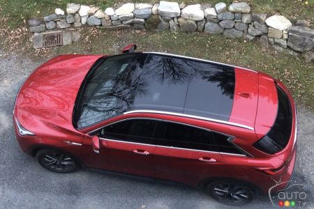 2020 Infiniti QX50, from above