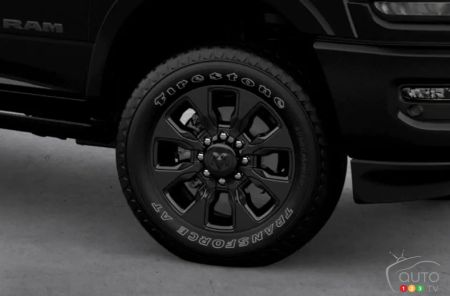 The 2020 Ram Heavy Duty Limited Black, wheel