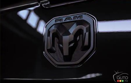 The 2020 Ram Heavy Duty Limited Black, badge