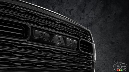 The 2020 Ram Heavy Duty Limited Black, grille