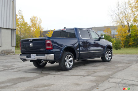 2020 Ram 1500 Limited, three-quarters rear