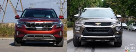 2021 Kia Seltos / 2021 Chevrolet Trailblazer, front