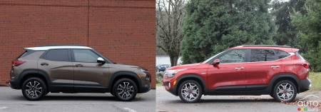 2021 Chevrolet Trailblazer / 2021 Kia Seltos, profile