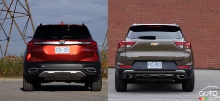 2021 Chevrolet Trailblazer / 2021 Kia Seltos, rear
