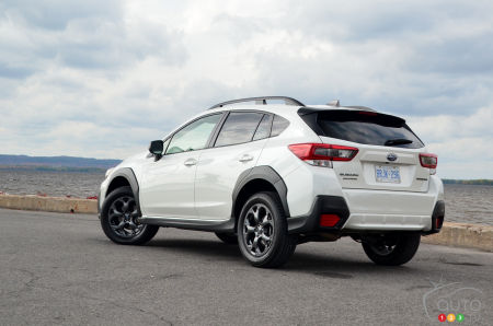2021 Subaru Crosstrek Outdoor, three-quarters rear