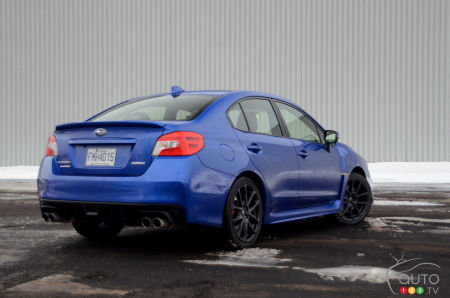 2020 Subaru WRX, three-quarters rear