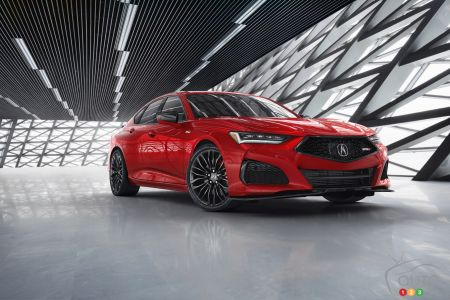 2021 Acura TLX Type S, three-quarters front
