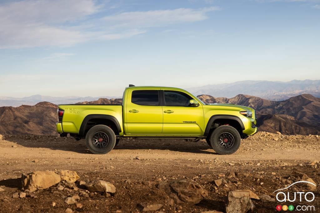 Toyota Tacoma TRD Pro 2022, profil