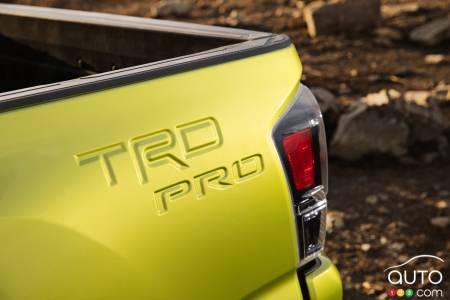 2022 Toyota Tacoma TRD Pro, badging
