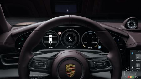 2021 Porsche Taycan with RWD, dashboard