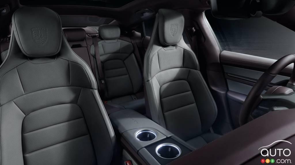 Porsche Taycan 2021 à propulsion, sièges