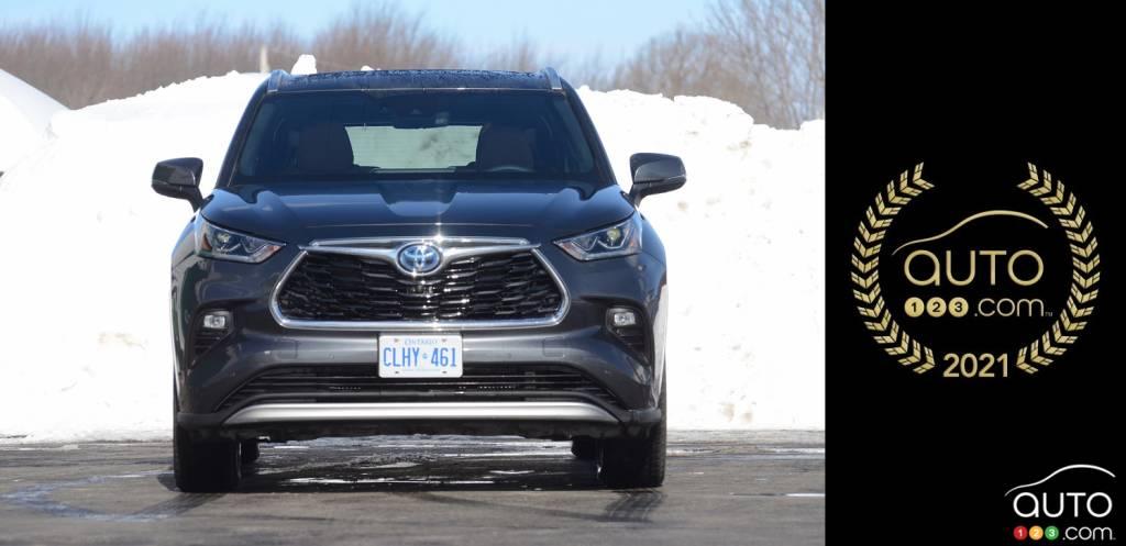 Toyota Highlander hybride 2021, avant