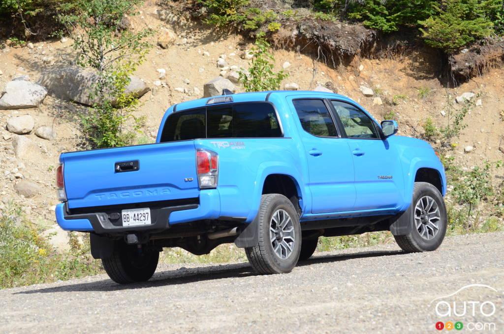 Toyota Tacoma, trois quarts arrière