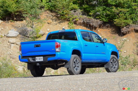 2020 Toyota Tacoma TRD Sport, three-quarters rear