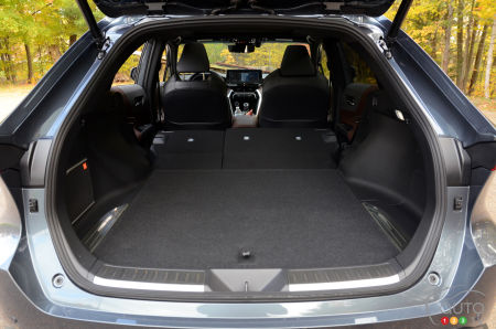 2021 Toyota Venza, trunk with seats down