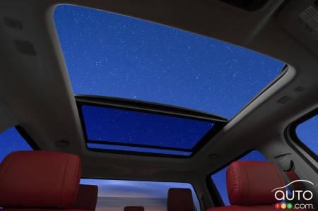 Full image of the Tundra's optional panoramic sunroof