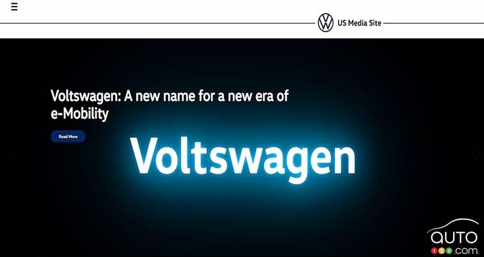 Image du site média américain de Volkswagen (et non Voltswagen)