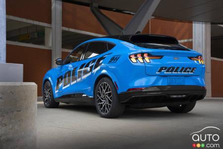 Ford Mustang Mach-E, three-quarters rear