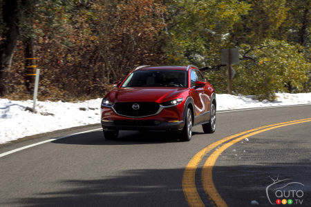 2020 Mazda CX-30, on the road