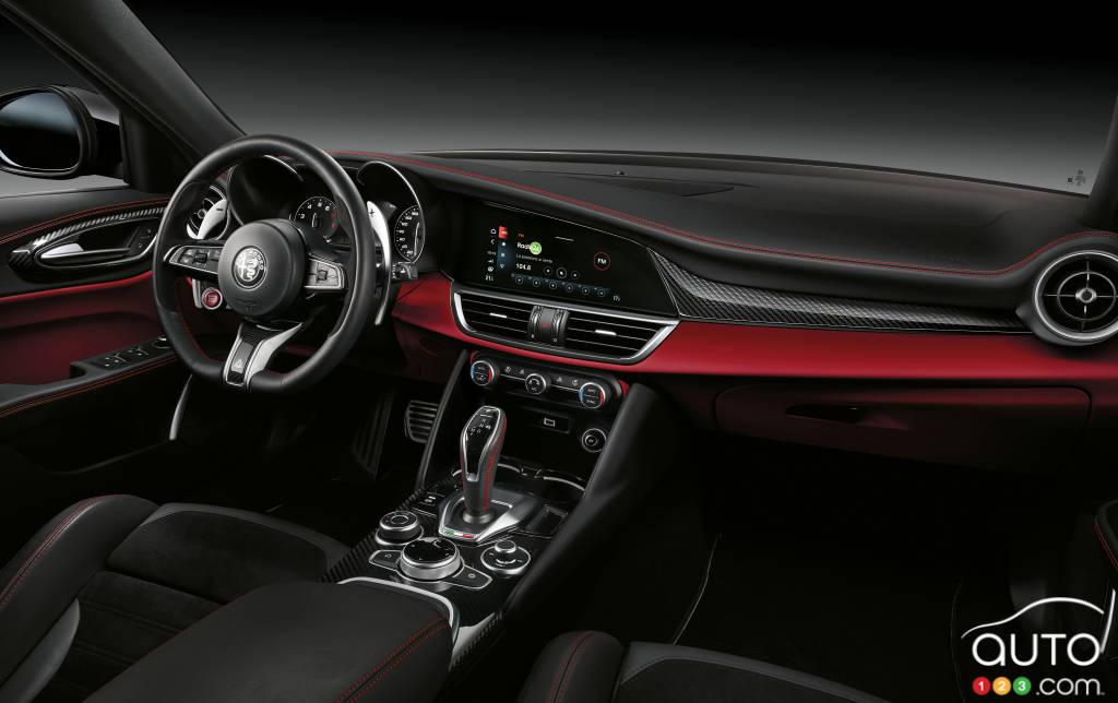 Alfa Romeo Giulia Quadrifoglio 2020, intérieur