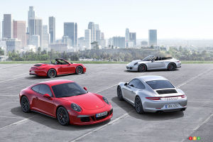 Porsche adds four GTS models to 911 Carrera range