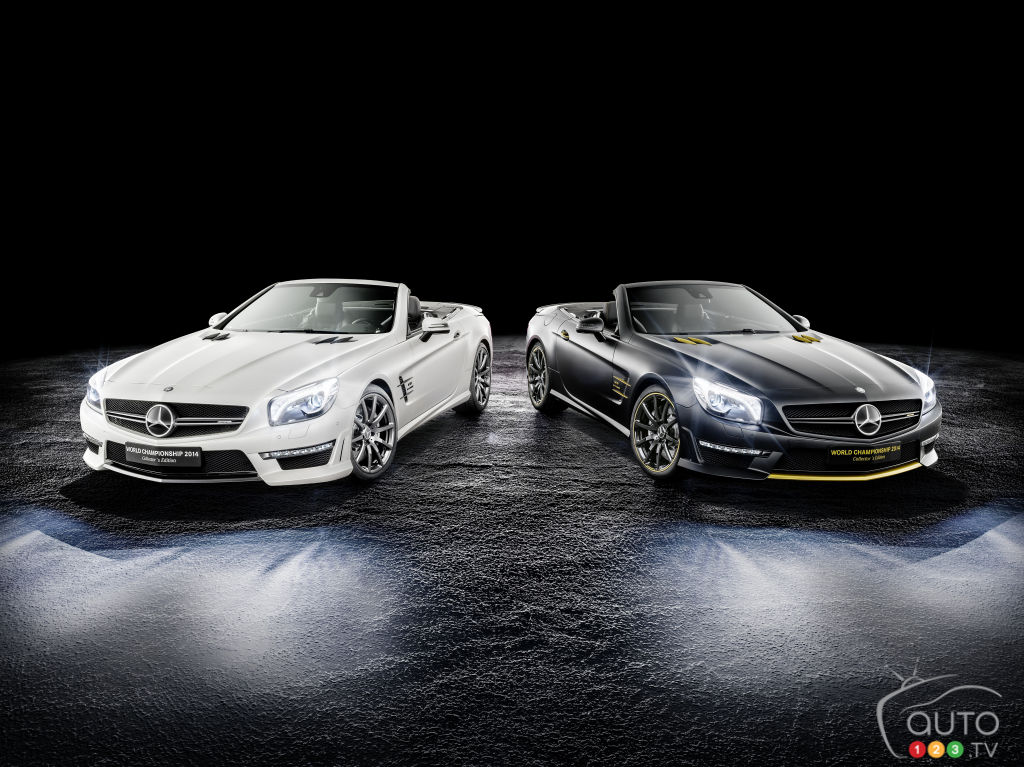 Special-edition Mercedes-Benz SL 63 AMG cars to celebrate F1 title