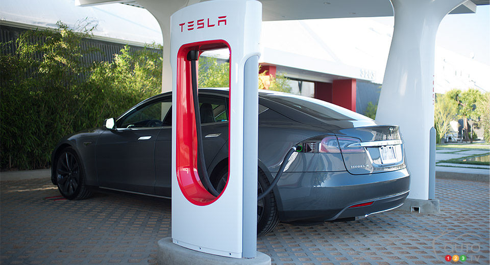 First Tesla Superchargers arrive in Canada