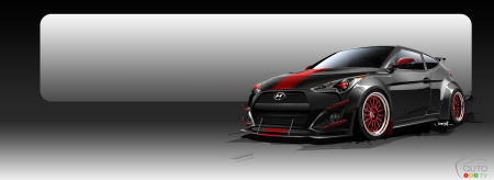 Check out this 500-hp Hyundai Veloster Turbo R-Spec for SEMA 2015