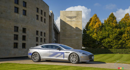Aston Martin unveils all-electric RapidE concept