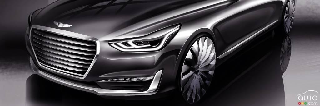 hyundai previews future genesis g90 luxury sedan car news auto123. Black Bedroom Furniture Sets. Home Design Ideas