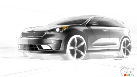 Kia Niro compact hybrid CUV set to go on sale in 2016