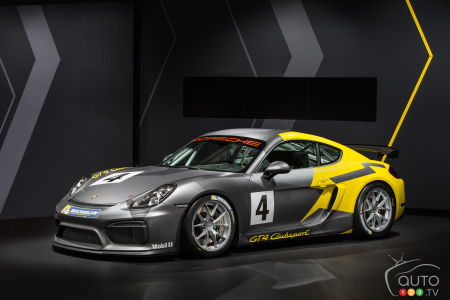 Los Angeles 2015: Porsche Cayman GT4 Clubsport, for the track only