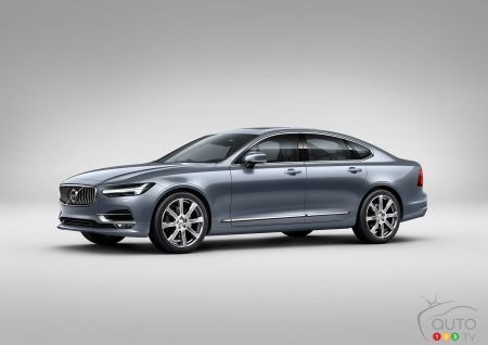 All New Volvo S90 Full Size Luxury Sedan Revealed Car News Auto123