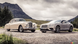 2016 Bentley Continental meets 1952 Continental