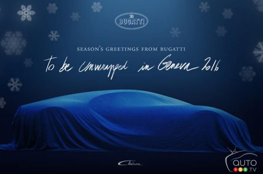 Bugatti posts Christmas card with Chiron teaser