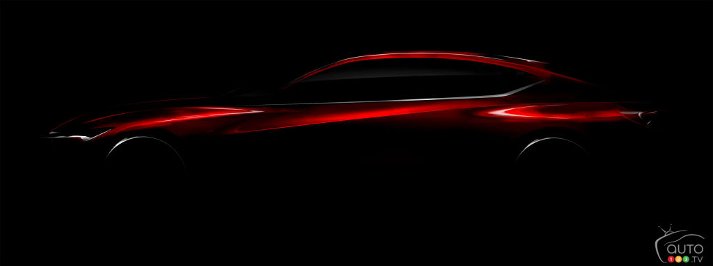 Acura Precision concept previewed ahead of Detroit Auto Show