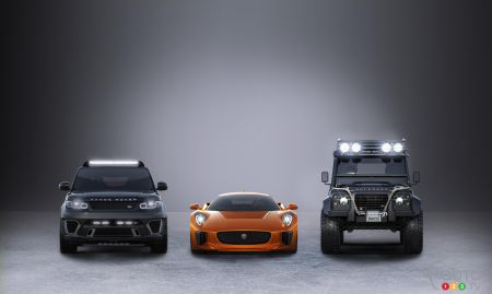 Three Jaguar Land Rover models to star in next James Bond movie
