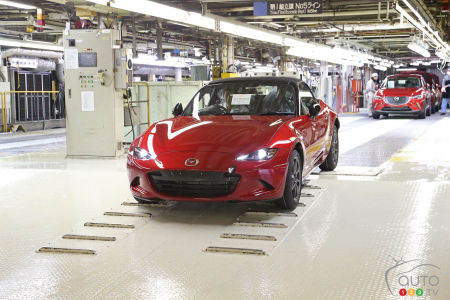 All-new 2016 Mazda MX-5 production gets going!
