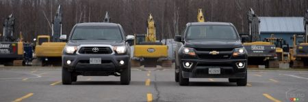 Chevrolet Colorado 2015 contre Toyota Tacoma 2015