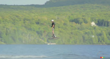 Canadian man flies on hoverboard, breaks record (video)