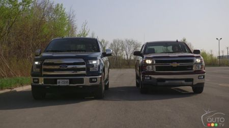 Ford F-150 2015 contre Chevrolet Silverado 1500 2015